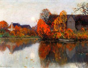 The Pond in October by Clarence Gagnon Giclee Canvas Print Repro | eBay