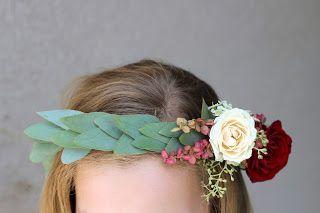 Merlot and Blush Bridal Floral Crown // Celebration Flair