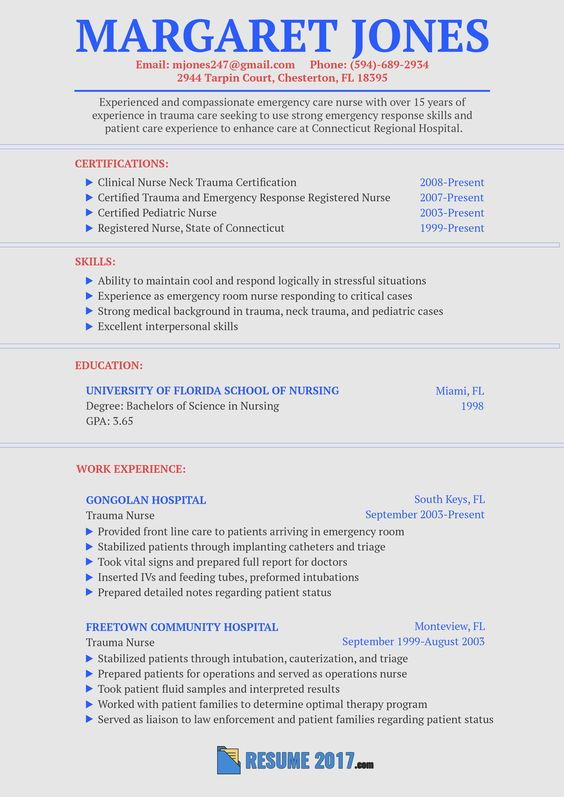 This flawless nurse resume sample 2018 will show you how to make - trauma nurse sample resume