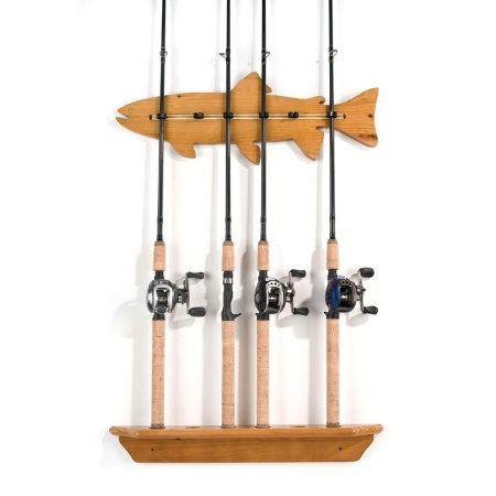 Gander mountain organized fishing fish wall rack 6 for Gander mountain fishing poles