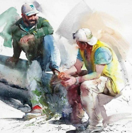 Epingle Par Pk77 Sur Aquarelles En 2020 Dessin Homme Peinture