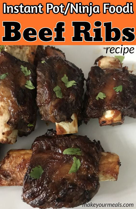 Pressure Cooker Barbecue Beef Ribs