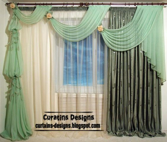 Unique Curtains Curtain Design Green For Living Rooms Jpg Household Ideas Pinterest And Dry Designs