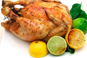 Курица на соли с лимоном или  лаймом