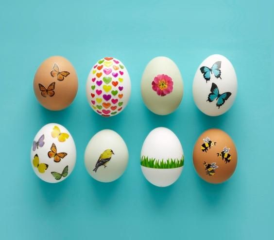 No dye easter egg decorating ideas kid easy diy and Creative easter egg decorating ideas