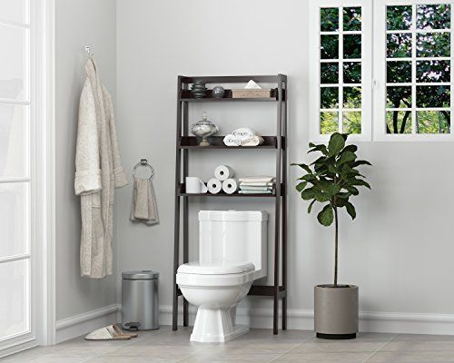 Bathroom Storage Over the Toilet Space Saver Espresso Organizer Furniture Decor