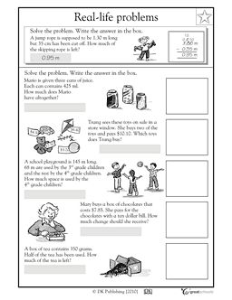 Our 5 favorite preK math worksheets | Word Problems, 4th Grade ...