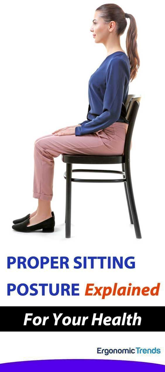 Want To Learn The Real Way To Sit Properly At The Computer For Better Health Here Is It According T Proper Sitting Posture How To Sit Properly Sitting Posture