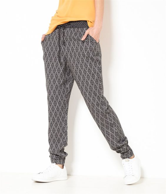 camaieu pantalon femme fluide et imprim pantalon. Black Bedroom Furniture Sets. Home Design Ideas