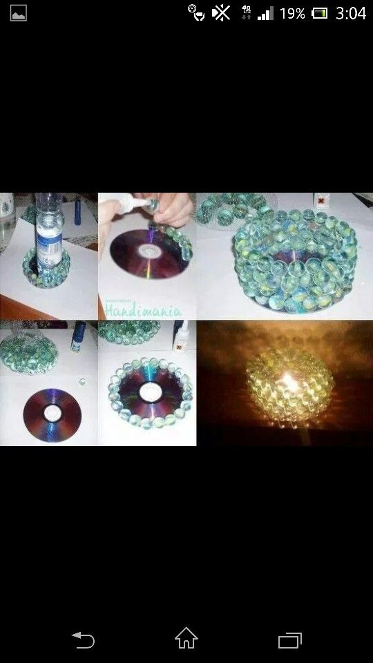 Fun candle holder idea that can be a fun project also for kids.