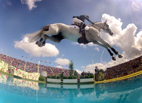 Penelope Leprevost of France rides 'Mylord Carthago' during the London 2012 Olympic Games equestrian jumping competition at Greenwich Park in South East London on August 6, 2012.