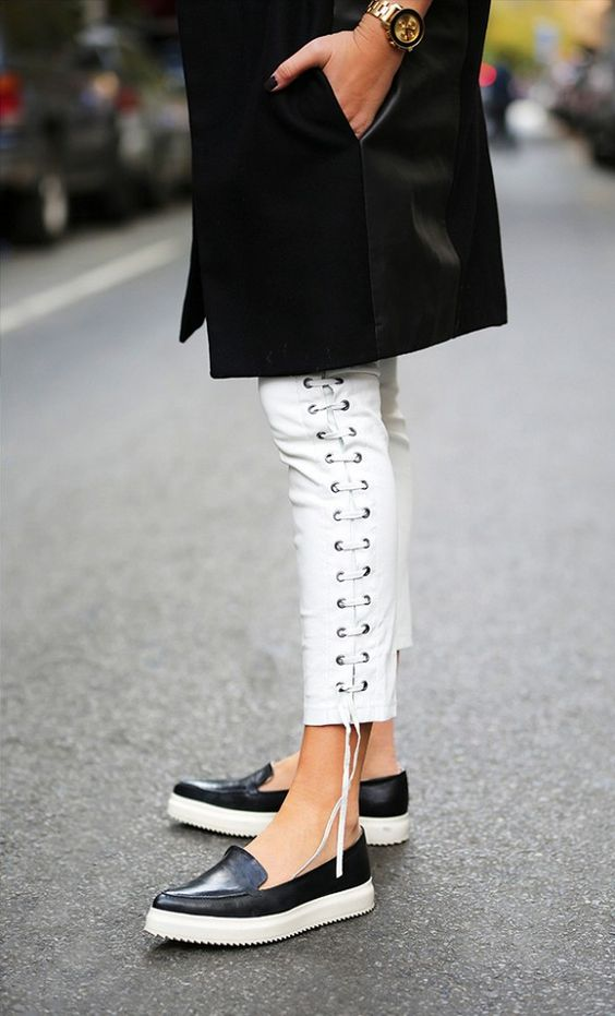 Isabel Marant x H&M's killer lace-up pants are incredible. // #Fashion
