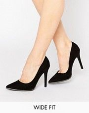 New Look Wide Fit Pointed Court Shoes