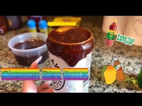 How To Make Chamoy Rim Paste Tajin Chamoy Para Micheladas Tamarindo Youtube Chamoy Mexican Snacks Fruity Cake