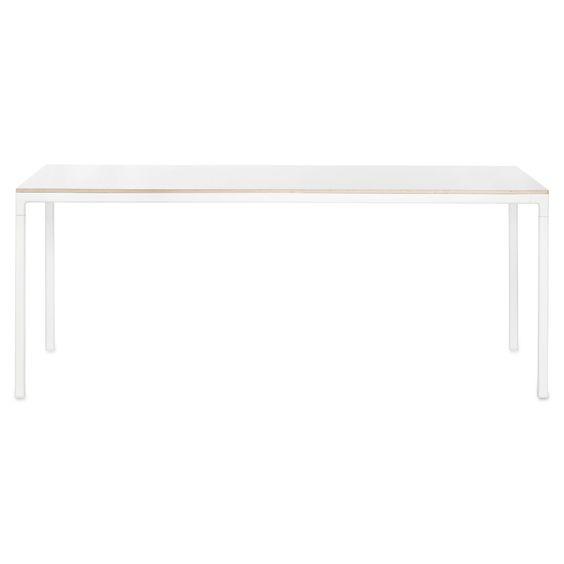 T12 bord 160x80, hvit laminat i gruppen Møbler / Bord / Spisebord ...