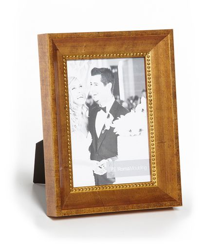 Terra Stone Etched Gold Wood Picture Frame