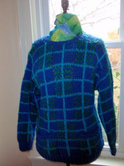 Vintage Grunge Sweater. Cobalt Blue.  XL by 3GenerationCuration  https://www.etsy.com/listing/168670677/vintage-grunge-sweater-cobalt-blue-xl?ref=shop_home_active_9    #sweater #80s #90s #OS #grunge #vintage #rad