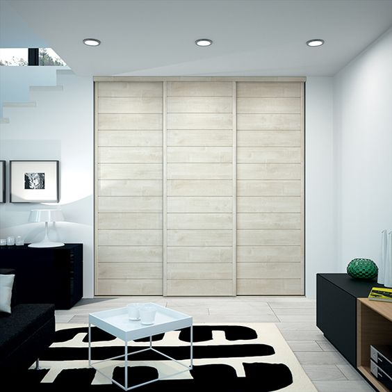 kazed portes de placard coulissantes kabourg naturel. Black Bedroom Furniture Sets. Home Design Ideas