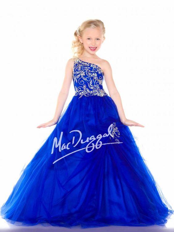 Royal Blue Girls Pageant Dress | Mac Duggal 48150S | Sugar Little ...