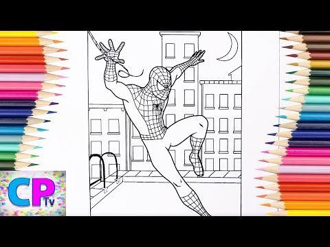 Spiderman Coloring Pages Superhero Drawing Spiderman Over The City Coloring Pages Tv Youtube Spiderman Coloring Spiderman Coloring Pages