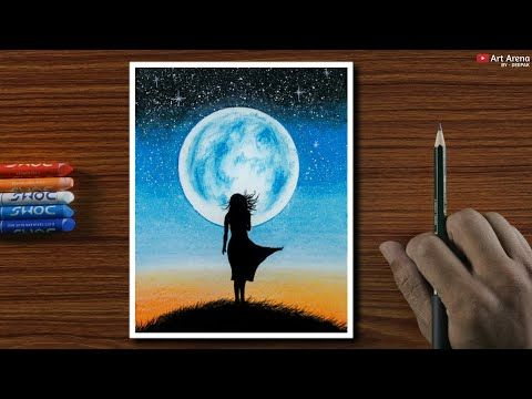 Oil Pastel Drawing For Beginners Alone Girl At Night Step By Step Youtube Oil Pastel Drawings Oil Pastel Art Soft Pastel Art