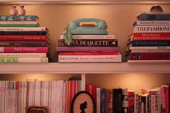 @Fallon Elizabeth's bookshelf. Love the lighting!