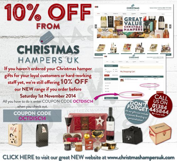 There's still 10% OFF on October from #Christmas #Hampers UK