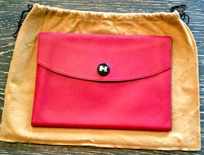 This style is so chic - AUTHENTIC Hermes Red Epsom Leather Rio ...