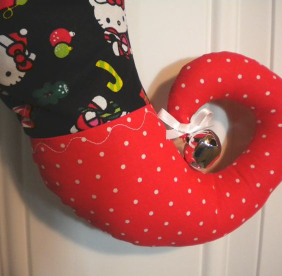Hey, I found this really awesome Etsy listing at https://www.etsy.com/listing/161442240/hello-kitty-christmas-stocking-with