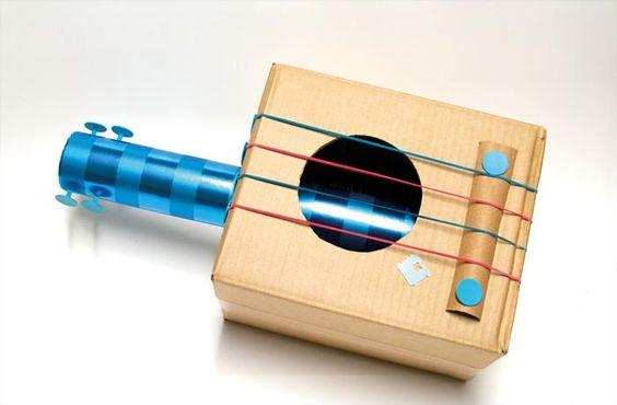 Instrumentos musicales con material reciclado