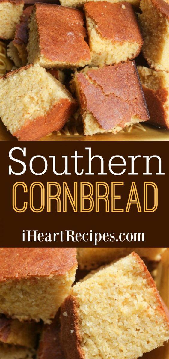 Classic Southern Cornbread Recipe | I Heart Recipes