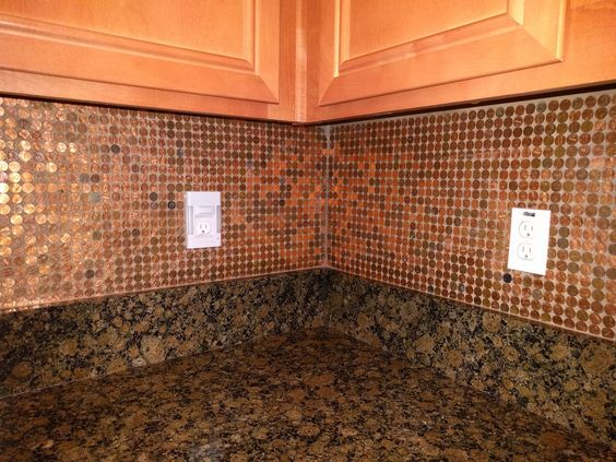 DIY Penny Backsplash