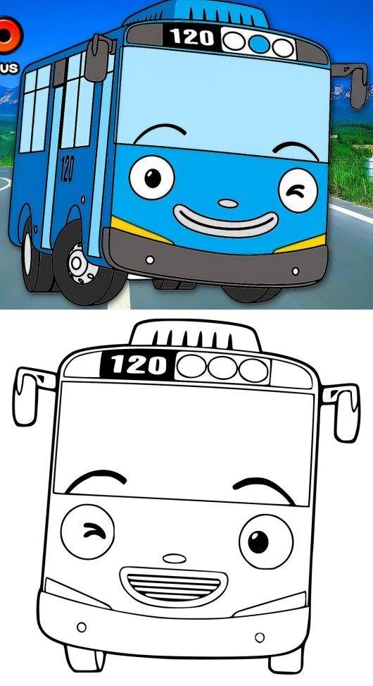 Kumpulan Gambar Mewarnai Tayo The Little Bus - idBookMark