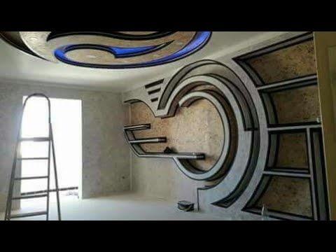 ديكورات جديدة لأقواس جبسية غاية فالروعة Youtube Tv Wall Design Ceiling Design False Ceiling Living Room