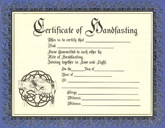 Keepsake Marriage Certificate Template | Celtic/Pagan | Pinterest