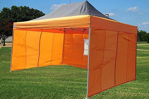 10x15 Pop Up 4 Wall Canopy Party Tent Gazebo Ez Black Orange E Model By Delta Canopies More Info Could Be Found At The Image U Hiking Tent Tent Camping Tent
