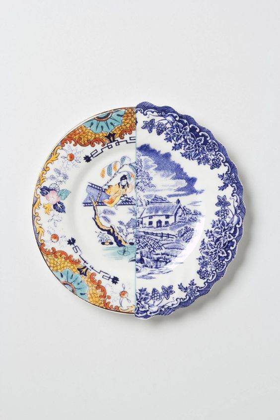 Unlikely Symmetry Orange Side Plate - From the Hybrid range by Seletti   Anthropologie