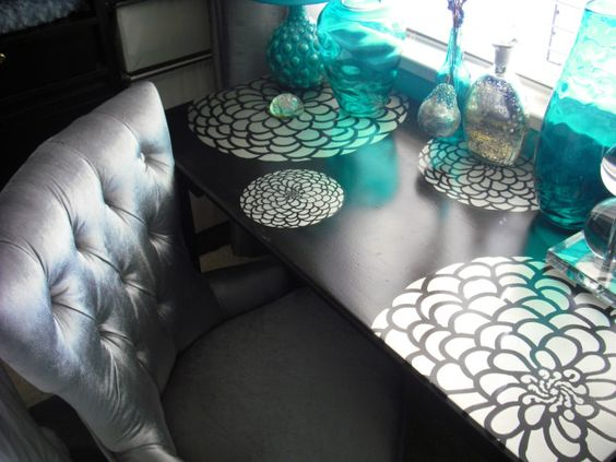 Inspired By Saturday's Zinnia Desk ..would go well with the Angelo:Home Clay Mango Chair...
