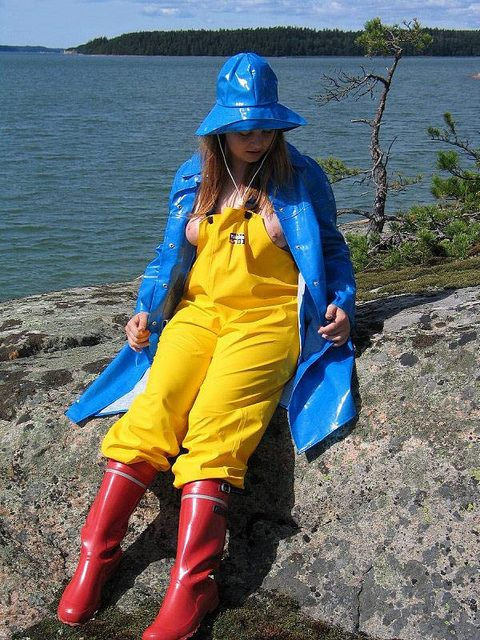 Red Rubber Boots Rain Clothes Pinterest Red Photos