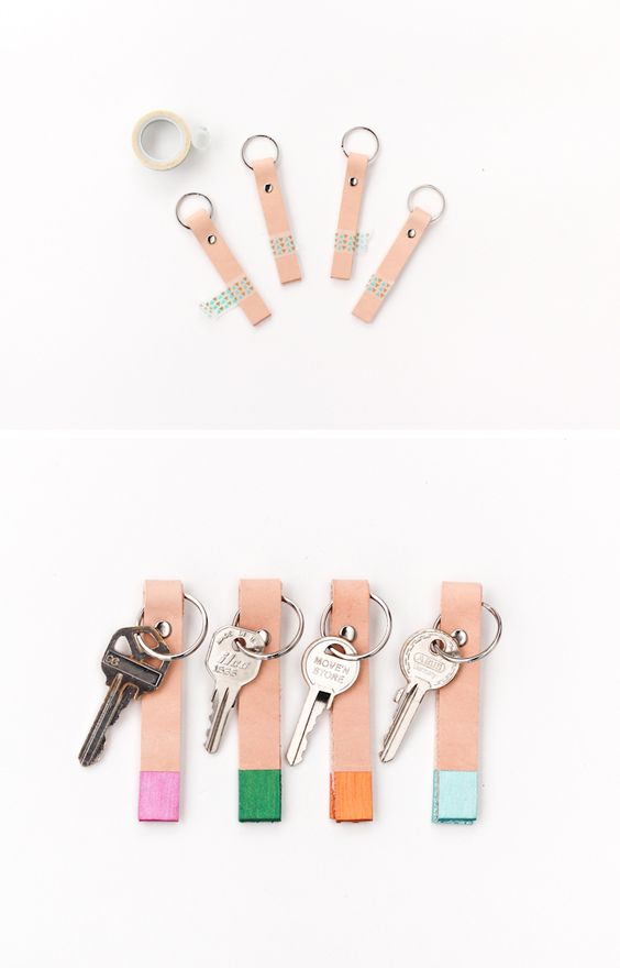 """Where are my keys?"" ""Wait, what key is this?"" Ask these questions just a little less often with this color coded key chain #DIY."