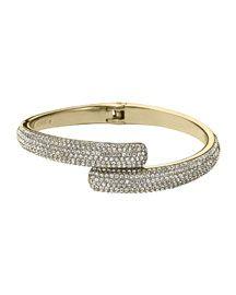 Y252S Michael Kors Pave Bypass Bracelet, Golden