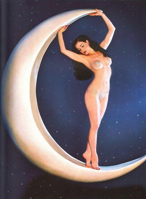 moon retro rockabilly pin-up rock'n'roll girls