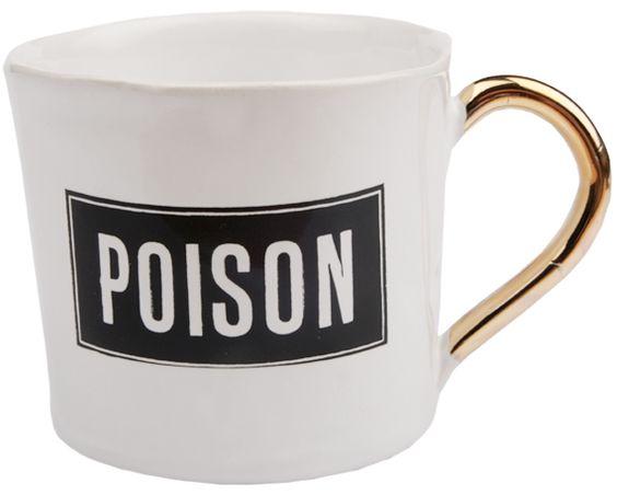 Design: Kuhn Keramikk Motiv: poison Farge: hvit Type: cortado kopp ...