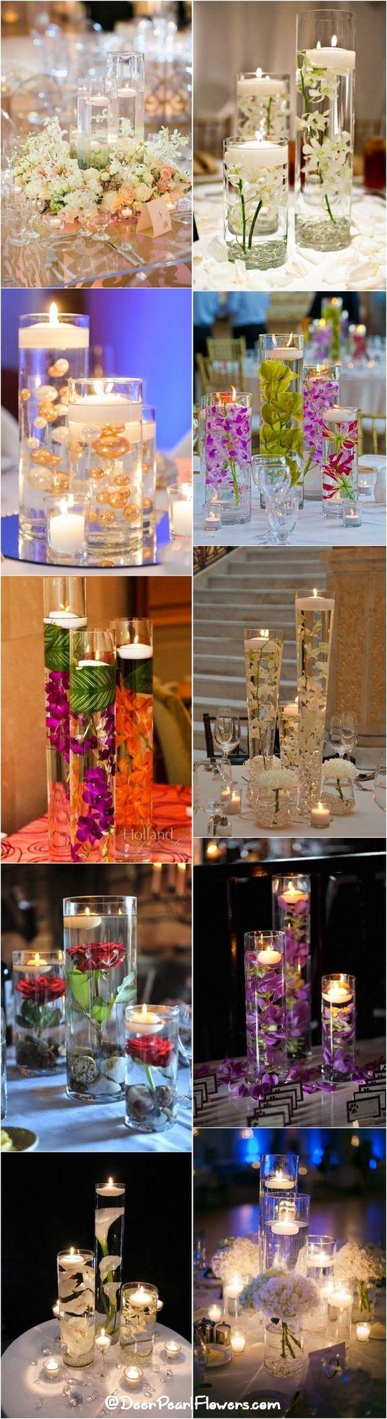 Romantic floating wedding centerpiece ideas / http://www.deerpearlflowers.com/floating-wedding-centerpieces/: