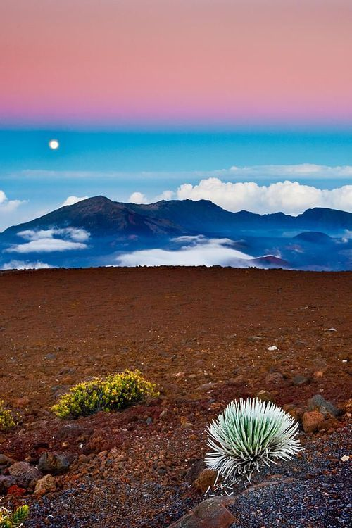 Haleakala Crater is a must see for visitors to Maui. It's the most-visited attraction on eastern Maui, and is 10,023 feet above sea level. The weather here changes quickly and can range from freezing temperatures and snow to warm and dry.
