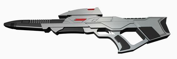 "3D-Druck fähiges Modell des ""Star Trek Mark 3 Phaser Rifle"" inkl. Elektronik"