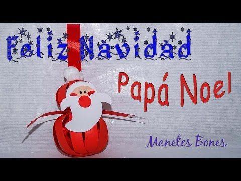 Adornos de Papá Noel para el árbol de Navidad   Viernes de papel – Videotutorial DIY   Manetes Bones