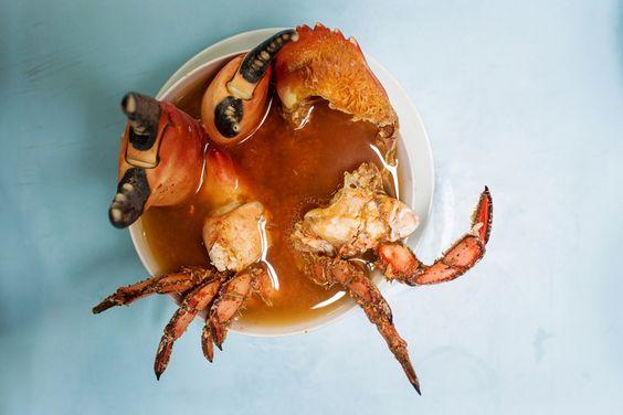 Crab soup from Mi Peru, Lima