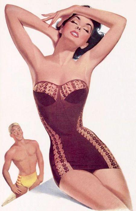 Jantzen advertisement, 1953.  Artwork by Pete Hawley.