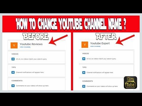 How To Change Youtube Channel Name 2019 Youtube Channel Youtube Names